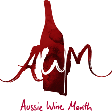 AWM Logo Wine Stain Stacked